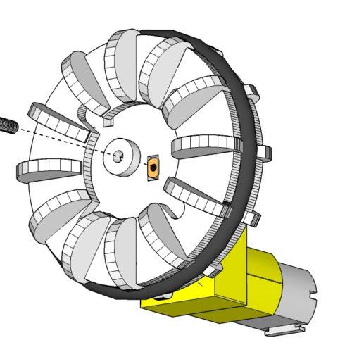 wheel dc gearbox motor robot